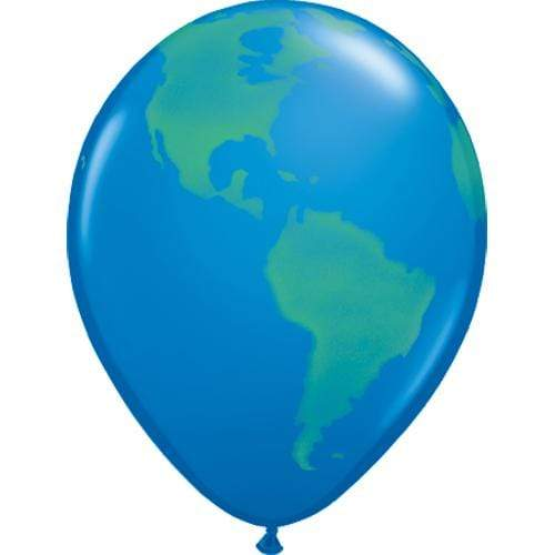 Globe Balloons | Planet Earth Latex Balloon | Helium Filled Balloons | Jungle Party Ideas