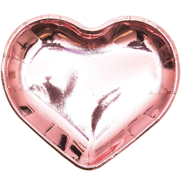 Pink Heart Paper Party Plates