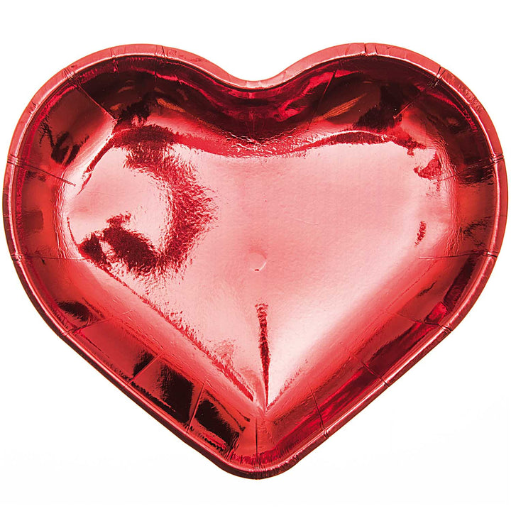 Heart Party Plates - Red - Valentines