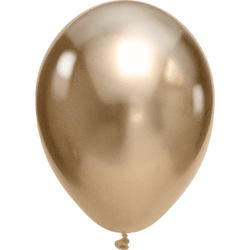 "Chrome Balloons Gold 11"" (5 pack)"