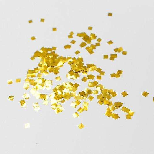 Gold confetti sprinkles