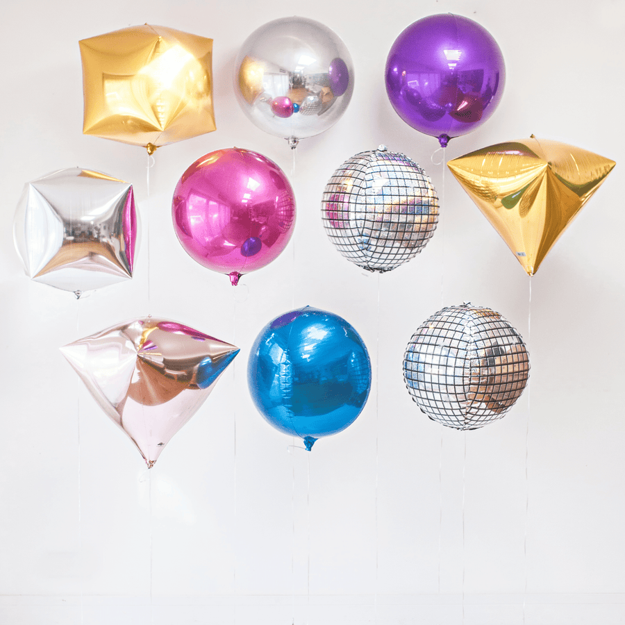 Gold Cube Balloon - Event Balloons
