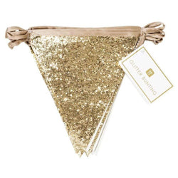 Gold Glitter Fabric Bunting Luxury Decoration
