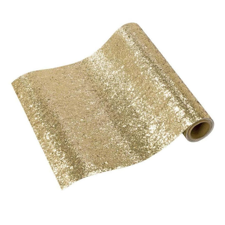 Gold Fabric Glitter Table Runner 1.8m