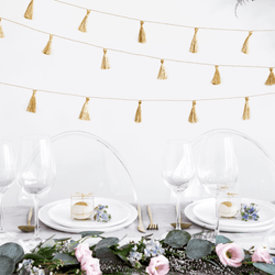 Gold Fabric Tassel Garland