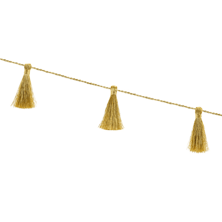 Gold Fabric Tassel Garland | Reusable Tassel Garland UK