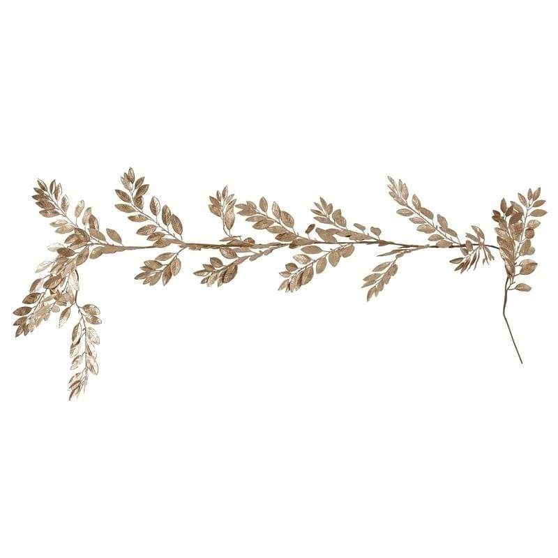 Gold Foliage Garland | Christmas Leaves Decoration