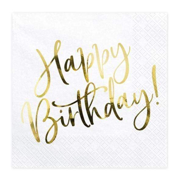 Happy Birthday Napkins | Simple Stylish Birthday Napkins