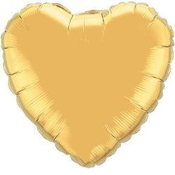 Gold Heart Foil Balloon 18""