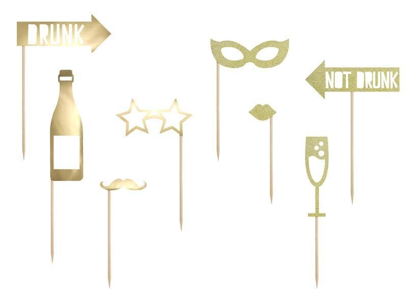 Party Photo Props | Gold Party Supplies | UK Party Supplies | Party Deco