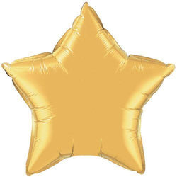 Gold Star Foil Balloon 20""