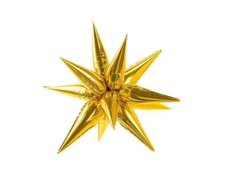 Gold Starburst Balloon (Medium  70cm)