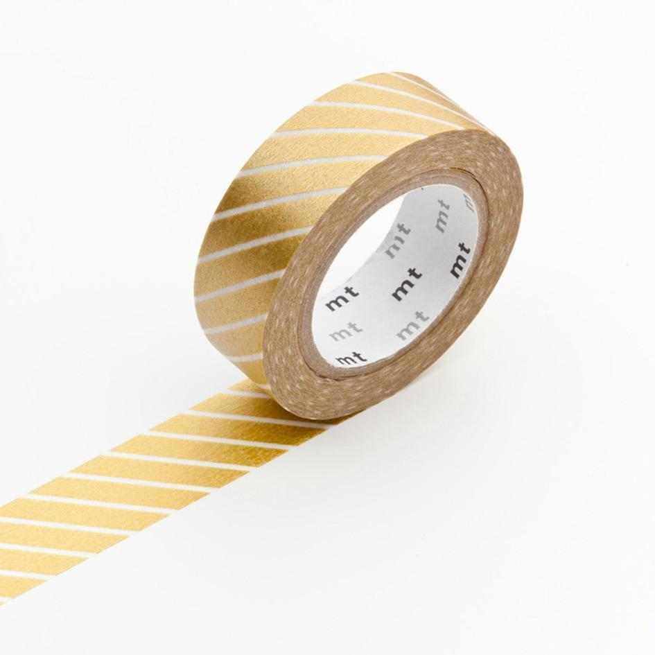 Gold Stripe Craft Tape | Shop MT Washi Tape UK