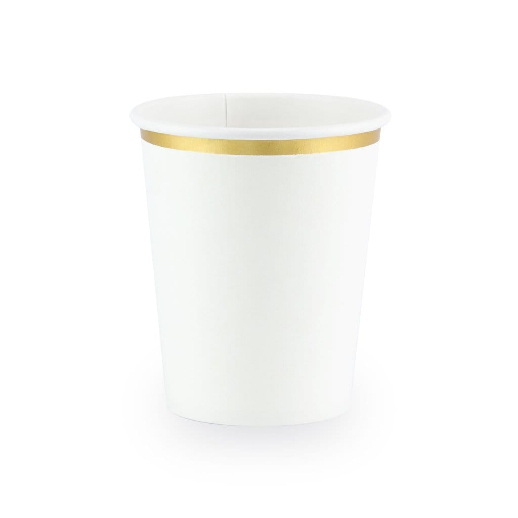 White Gold Paper Cups
