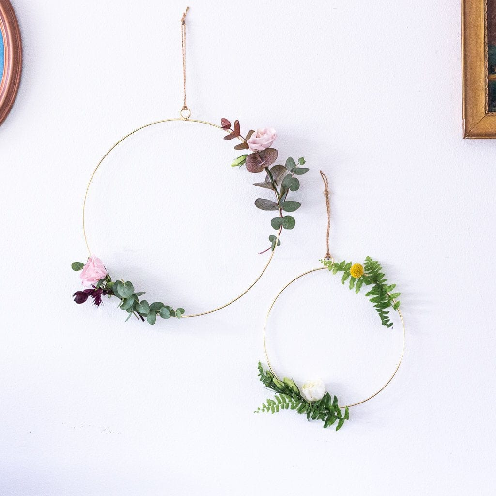 Metal hoop Hanging Decoration | Floral Ring Gold Hoop | Wedding Flower Hoop Decoration