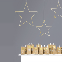 Golden Star Decorations (2 Pieces)
