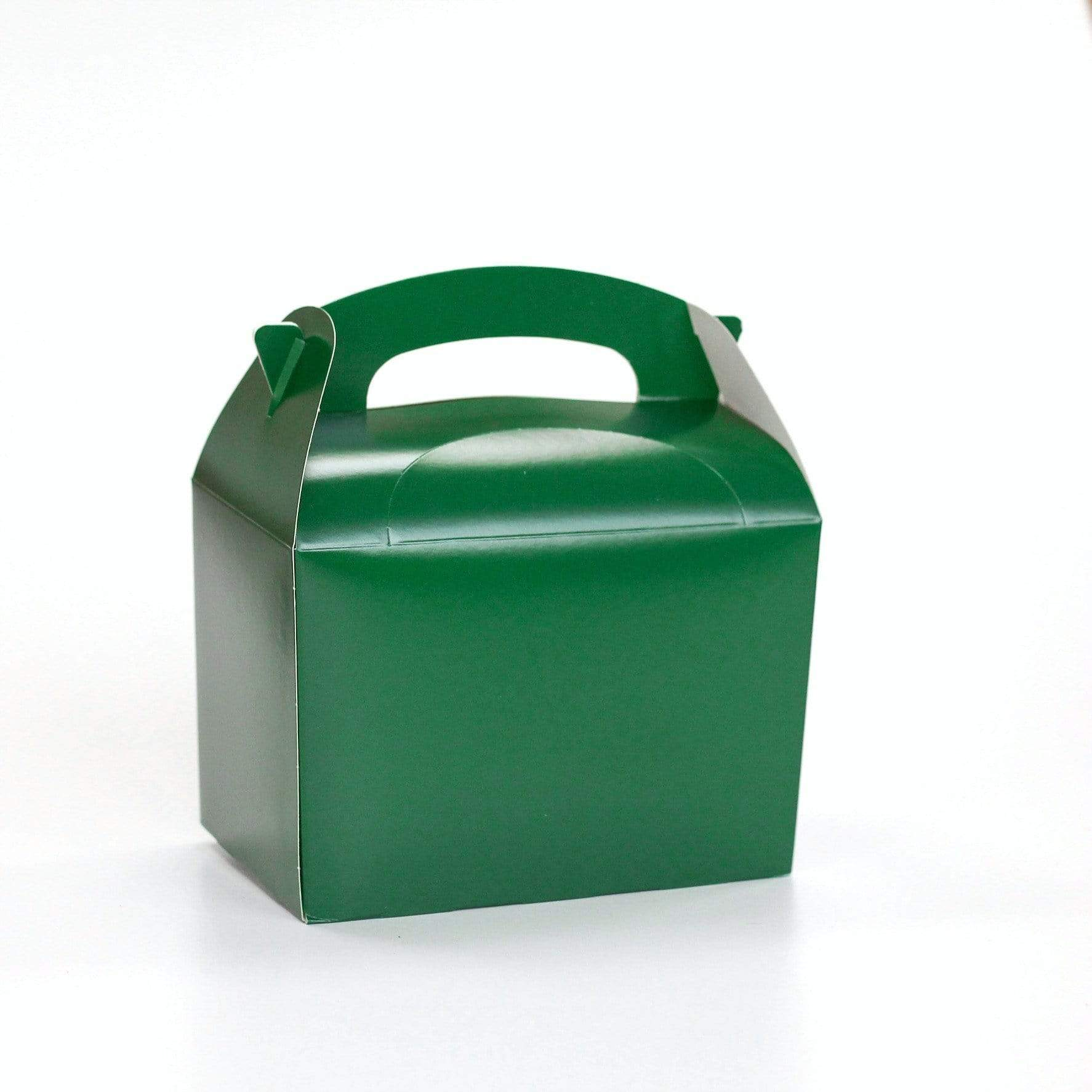 Green Party Food Lunch Box | Coloured Party Boxes UK