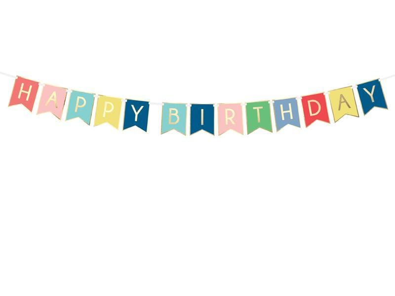 Happy Birthday Banner - Colourful