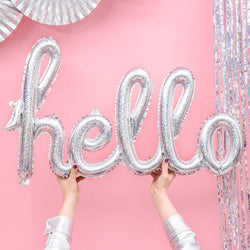 Holographic Hello Script Balloon
