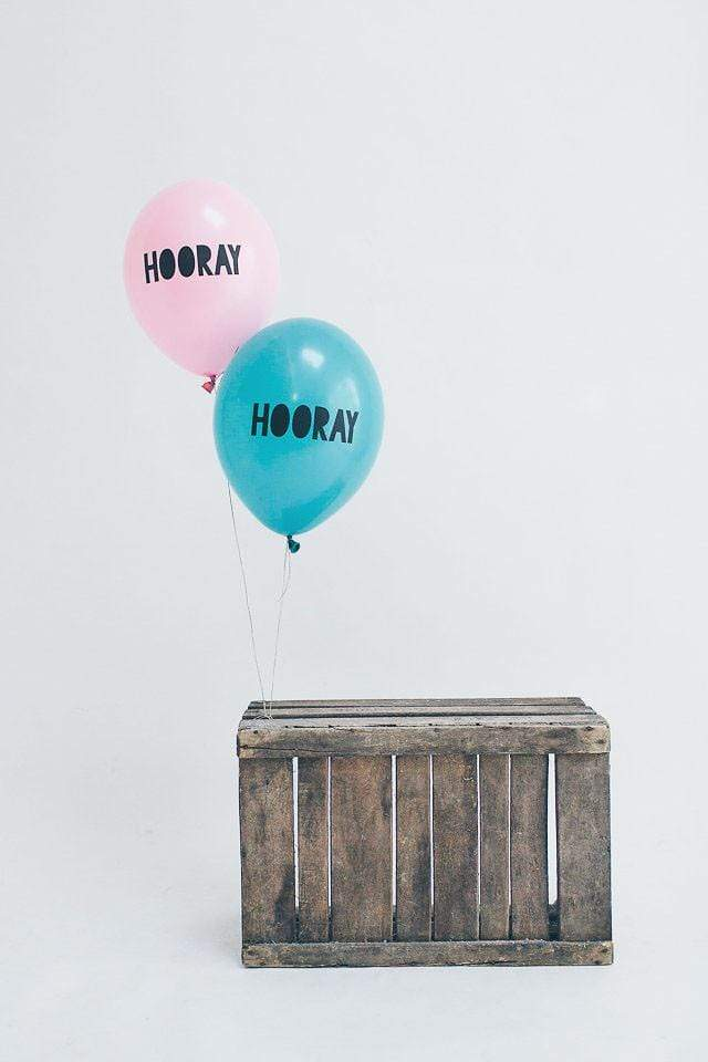 Hooray Balloons Pink (5 Pack)