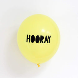 Hooray Balloons Yellow (5 Pack)