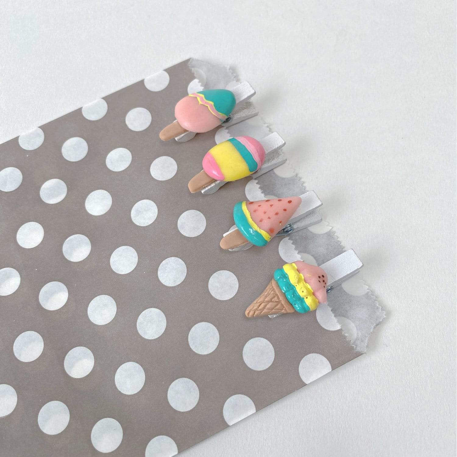 Ice Cream Pegs | Ice Cream Party Accessories
