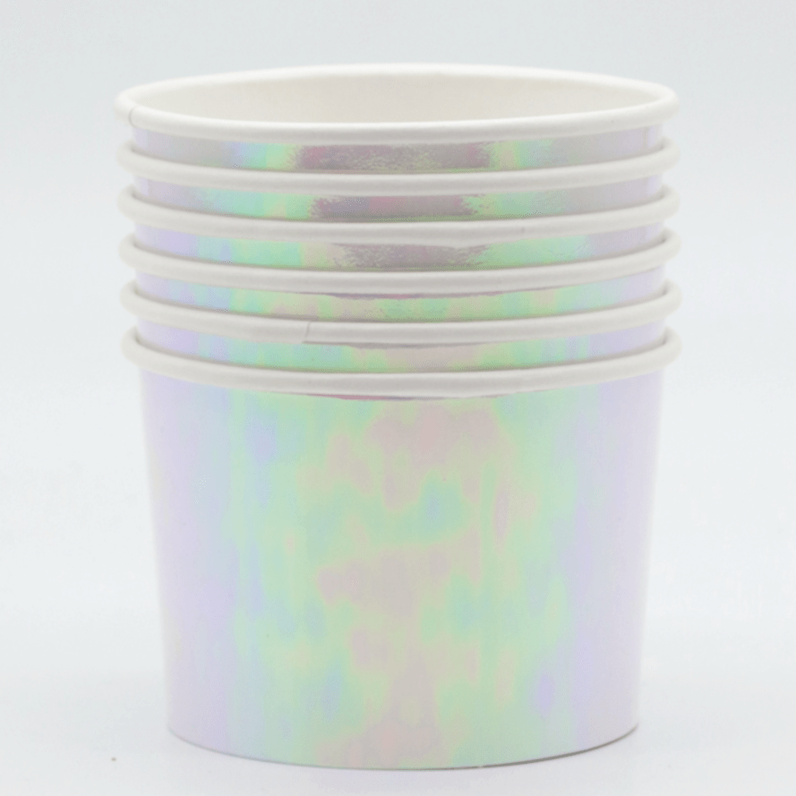 Iridescent Ice cream Cups | Ice Cream Pots for Parties