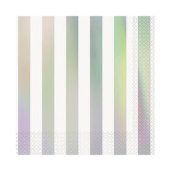 Iridescent striped Party Napkins