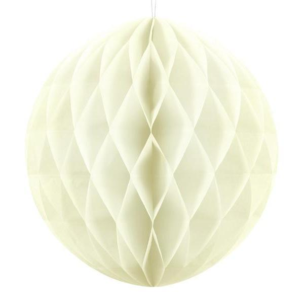 Cream Honeycomb Ball | Paper Honeycomb Decorations in all the Colours