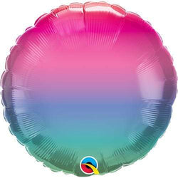 Jewel Ombre Round Foil Balloon 18""