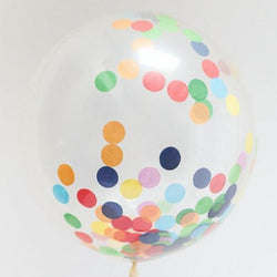 Jumbo Confetti Filled Round Balloon - Multi-Colour