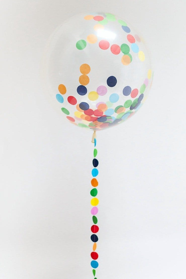 Big Confetti Filled Balloons