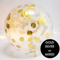 Jumbo Metallic Confetti Filled Round Balloon