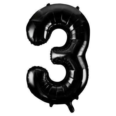 "Large Black Number 3 three Balloon | Giant 34"" Number Balloons"
