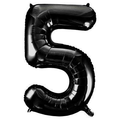 "Large Black Number 5 Five Balloon | Giant 34"" Number Balloons"