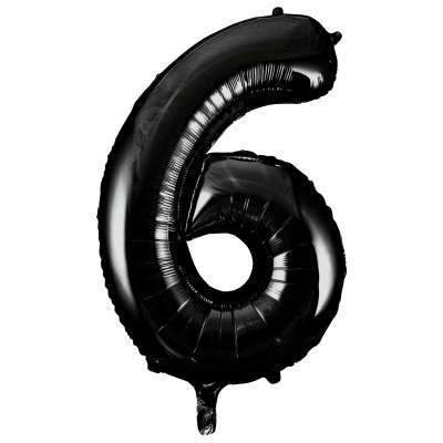 "Large Black Number 6 Six Balloon | Giant 34"" Number Balloons"