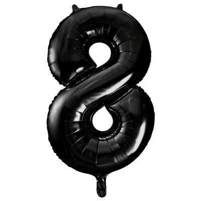 "Large Black Number 8 Eight Balloon | Giant 34"" Number Balloons"