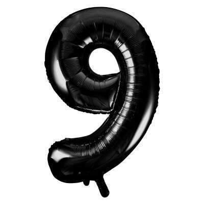 "Large Black Number 9 Nine Balloon | Giant 34"" Number Balloons"