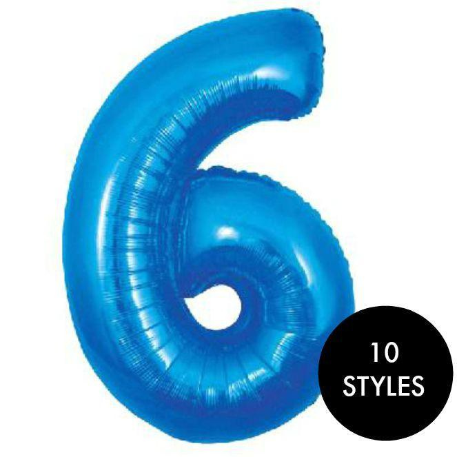 Large foil Balloon Numbers Blue 30""
