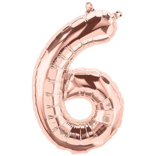 Rose Gold Giant Number Balloons