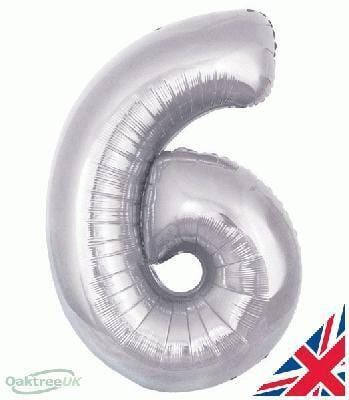Large Silver Foil Number Balloons | Birthday Party Balloons