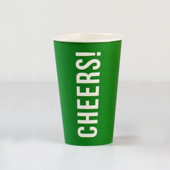 Eco Party Cups 'Cheers' Sports party cups by Talking Tables