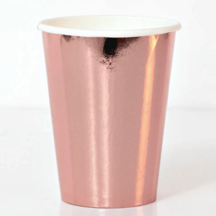 Large High Shine Cups Rose Gold (8 Pack)