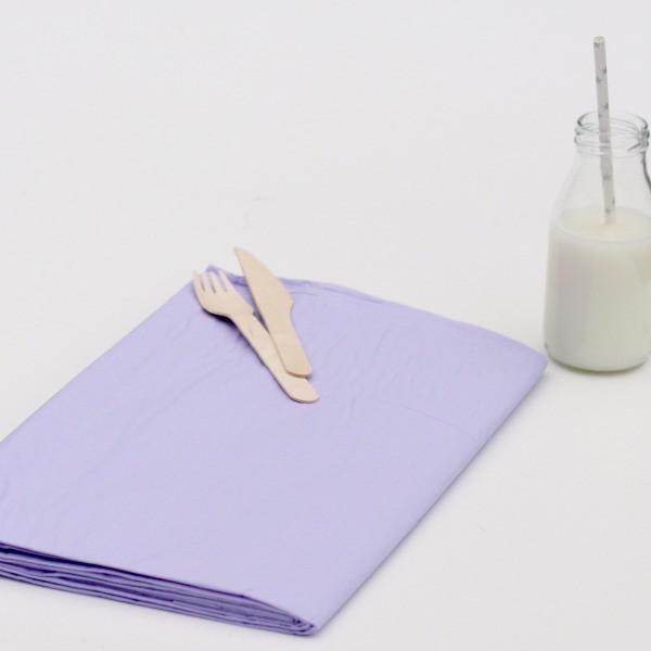 Large Lilac Paper Tablecloth