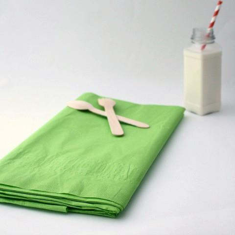 Large Lime Green Paper Tablecloth