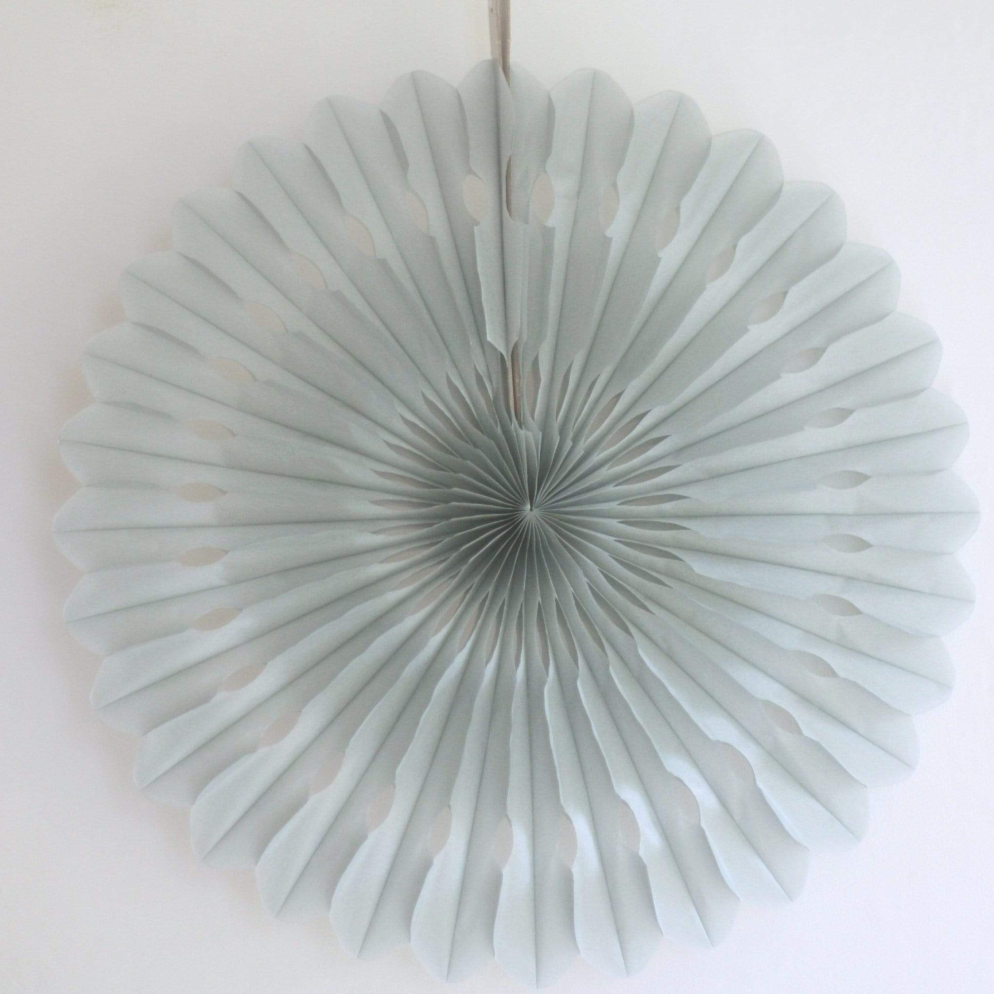 Large Paper Fan Grey