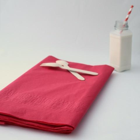 Large Red Paper Tablecloth