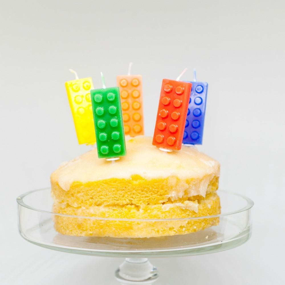 Lego Block Candles Candles | Lego Party Candles | Lego Party Ideas