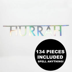 Letter Banner Iridescent (134 pieces included)