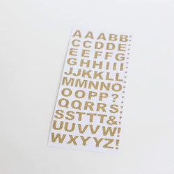 Letter Stickers - Gold